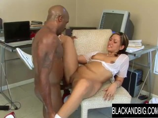 Slutty Schoolgirl So Real Would Rather Ride a Fat Black Cock Than Study