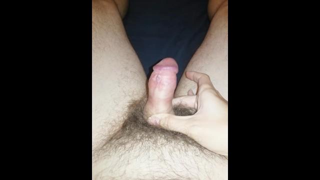 Large penis small women Amateur flaccid penis growing bigger and bigger foreskin pulled back