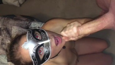 """""""GIVE IT TO ME""""-Wife begs for cum in mouth & facial while sucking his cock."""