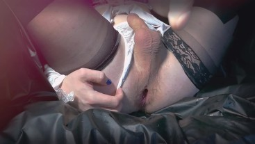 Femboy hard training anal and cums with pleasure ( sissy crossdresser )