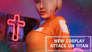 Kinky Dope Cosplay sex scene based on the Attack on Titan manga (full)