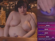 Gamer Girl Gets Super Creamy and Gushes LIVE on Plexstorm Stream