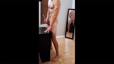 Str8 Otter Daddy's Dirty Talking Cumshot (Mirrored Ass View)