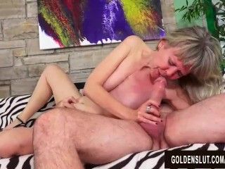 Granny Jamie Foster and Her Royal British Pussy Are Treated to a Fat Cock Jamie Foster