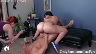 Thicc PAWG Mandy Muse Rides Laz Fyre BTS