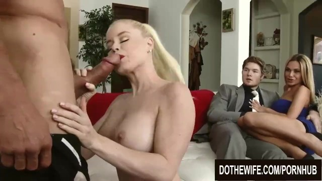 How to deal with a bisexual spouse - Swinger wife nikki delano fucks a married man while spouses enjoy watching