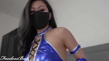 Mortal Kombat Kitana Cosplay by masked Asian female solo