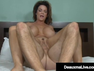 Southern Cougar Deauxma Mounts Young Guys Pulsating Cock Deauxma