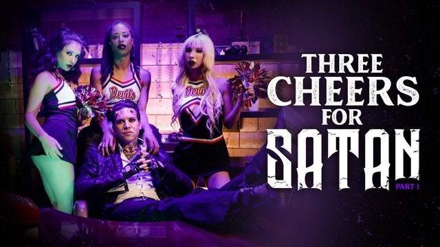 Halloween porn photos Burningangel three little cheerleaders for satans cock
