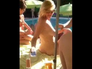 Public BLOWJOB cute whore on Seaside