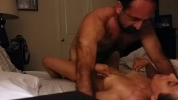 Pretty soccer mom hot missionary sex and nipple play