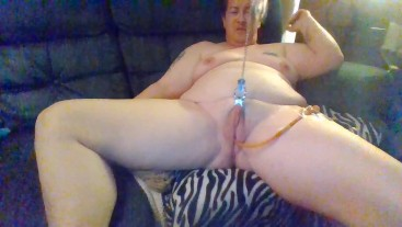 Full Video - Pussy Stretching Using Clamps on Desperate BBW with Catheter