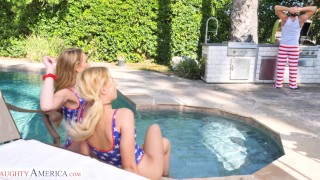 Naughty America Daisy and Sophia get a big cock