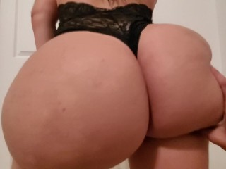 Young pawg destroys cock through black panties
