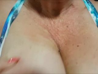 Mature lady with huge boobs wants u to lick and suck her nipples like this