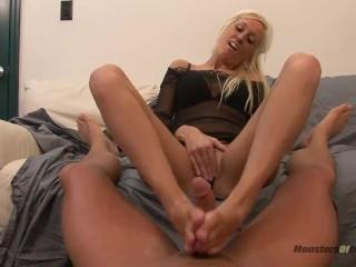 Sexy Blonde Teen Footjob