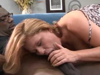 Blonde Milf squirts hard on a massive black cock John E Depth, Kate Faucett