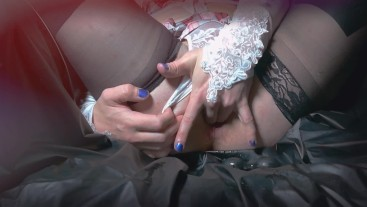 sensitive femboy plays fingers with prostate and enjoys