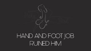Edging Foot job and Hand job | Ruined orgasm | Light POT