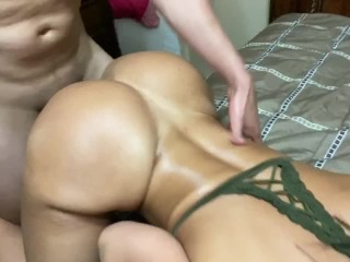 Big ass wife gets fucked by husband's brother.