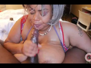 BBW with Huge JJJ Natural tits gets facefucked by Monster BBC