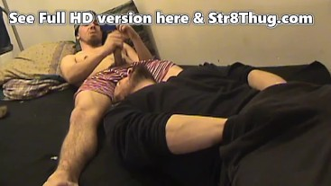 Evil College Boy Red Returns to use homo faggot mouth for feet and cum