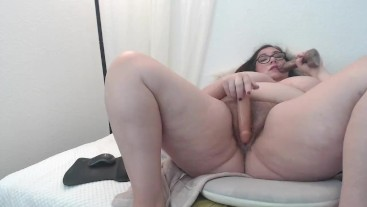 BBW Stepmom Fucks Stepson and Husband Taboo Fantasy Double Creampie