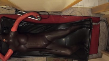 Living Doll Bondage in Vacbed - different positions