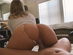 College Girlfriend with Big Ass Comes over to Ride Cock - Blondeadobo