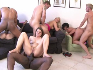 BBC GANGBANG ORGY THE WILDEST MILF PARTY EVER WITH ANAL DP SEX at its BEST