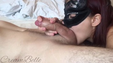 morning blowjob and deepthroat from beautiful masked babe!