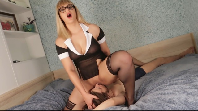Good vagina licking Teacher makes student pussy licking for a good school marks