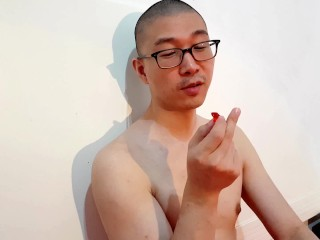 Your Godly Asian Giant in Glasses Teasing & Eating Tinies (Gummy Bears)