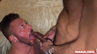 MANALIZED Inked Hunk Hugh Hunter Destroyed By BBC Bareback