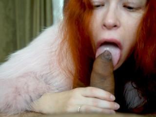 Fur Fetish Redhead Do Great Blowjob short