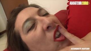 AMATEUR EURO - Italian Kinky GILF Veronica Has Anal Sex With A Hard Cock