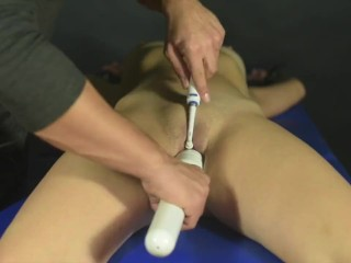 Post orgasm torture for miss Anne