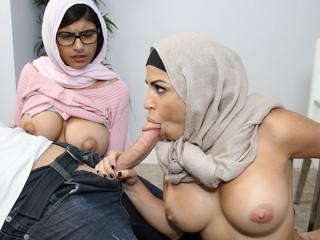 MIA KHALIFA Threesome With My Stepmom Julianna Vega White Devil BF Julianna Vega, Mia Khalifa, Sean Lawless