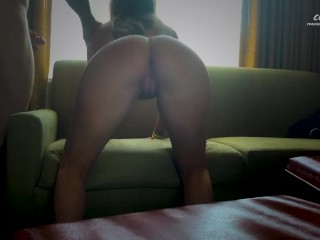 Young fit Ceceluca sits on fat cock and takes a load to the face