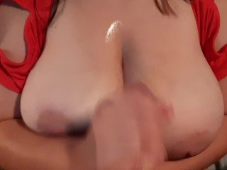 Horny mom offers her tits to sons friends. I said yes!!!