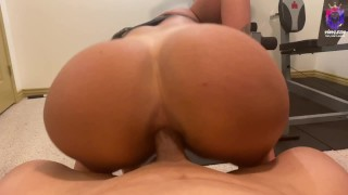 Fit latina ended up getting a rough anal fuck in the gym
