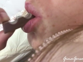 Belly fetish Gina Gerson