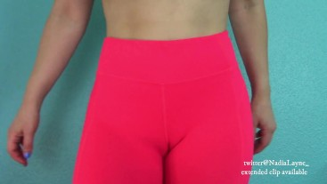 Look at Her Camel Toe in Yoga Pants