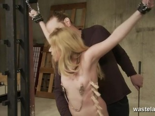 Hardcore BDSM Discipline With Naked Submissive Bound Whipped And Clamped