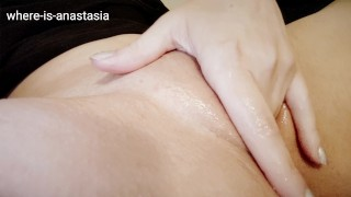 Fingering My Shaved Tight Wet Pussy