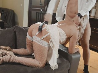 FULL Very Hard Belt Spanking Punishment Rough Face Fuck Doggy Fucking Axel Truu, Kate Truu