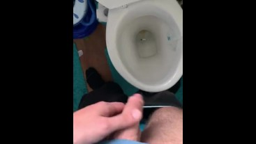 """Let's say """"quick"""" wank to the toilet when your balls are too full :) 42..."""