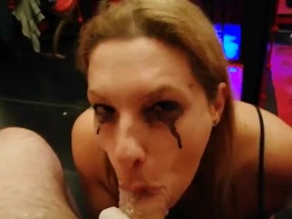Sloppiest blowjob you will ever see from an amateur Italian MILF (he died)