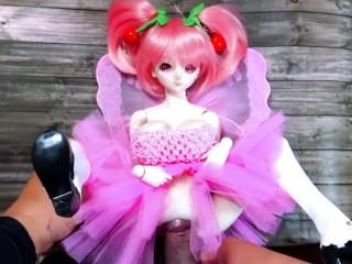 Mini doll pink hair