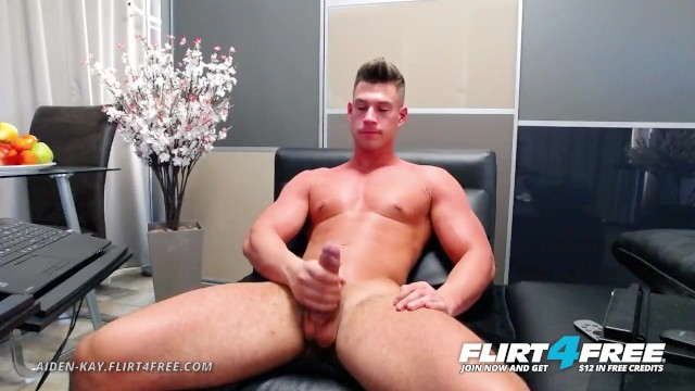 Straight guys for the gay eyes Aiden kay on flirt4free - athletic blue eyed cam stud strokes his huge cock